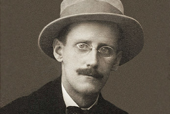 "James Joyce, the author of ""Ulysses""."