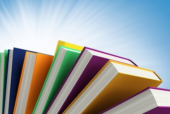 Some colored books