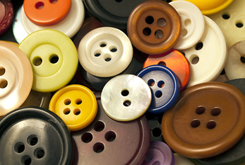 Colorful buttons of different sizes