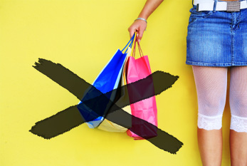 No full shopping bags on Buy Nothing Day!