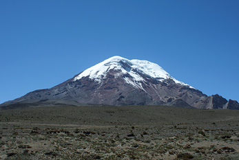 Chimborazo is the mountain with the highest point on Earth.