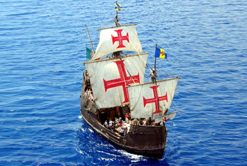 A replica of Christopher Columbus' ship Santa Maria.