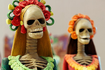 Catrinas, one of the most popular figures of the Day of the Dead celebrations at Mexico
