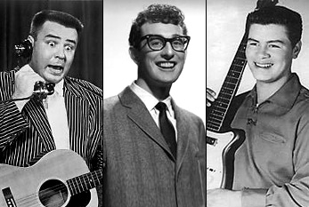 "J. P. ""The Big Bopper"" Richardson, Buddy Holly and Ritchie Valens"
