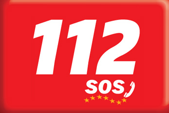 Logo of the European emergency number 112.