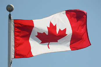 The flag of Canada.