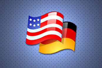 The German and the American Flag