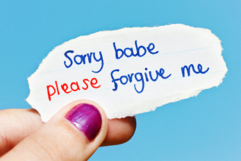 Hand-drawn note begs forgiveness