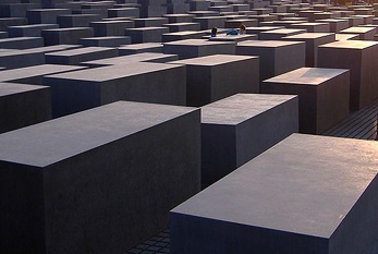 The Memorial to the Murdered Jews of Europe, shortened form Holocaust Memorial, in Berlin.