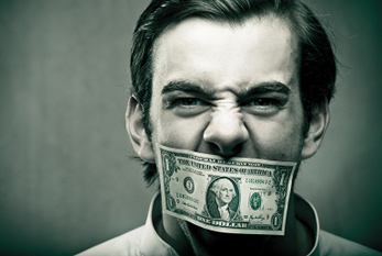 Silence in exchange for money: The stakeholders have primarily their personal gain in mind.