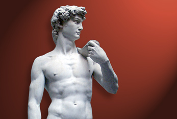 Ideal image of a man (Michelangelo's David)