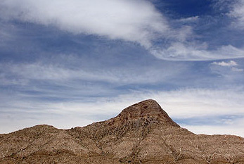 A mountain in Red Rock Canyon, Nevada.