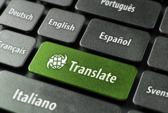 Keyboard of a translation tool.