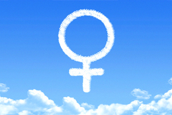 The Venus symbol - it is often used to represent woman and the female sex.