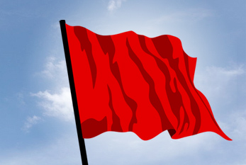 The red flag as a sign of the Labour movement.