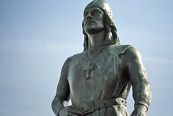 Leif Erikson memorial statue in Seattle