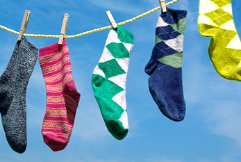 Lonely socks without partners on the clothesline: Lost Sock Memorial Day is commemorating the missing ones.