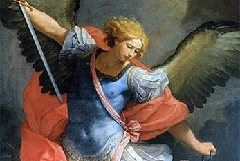 The Archangel Michael on a painting