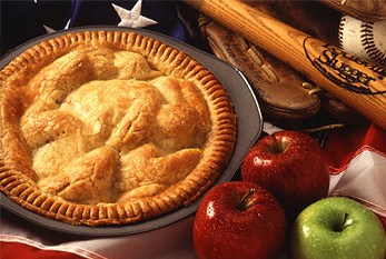 An apple pie is one of a number of United States cultural icons.