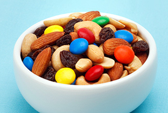 Trail Mix in a bowl.