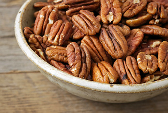 A bowl of pecans on Pecan Day.