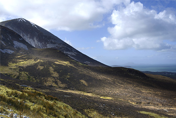 Croagh Patrick, also known as the Reek, in Ireland.
