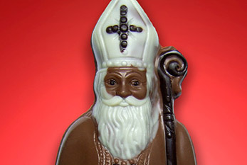 A chocolate Santa Claus