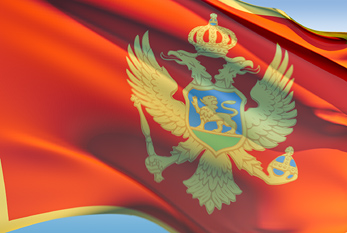 The flag of Montenegro.