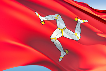 The flag of Isle of Man.