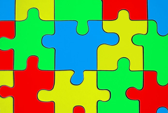 A colorful puzzle is often used to bring awareness to Autism.