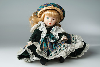 A vintage doll.