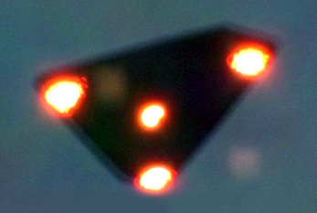 A supposed UFO, taken  on June 15, 1990 in Wallonia, Belgium.